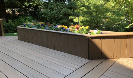 Built in Composite planter box