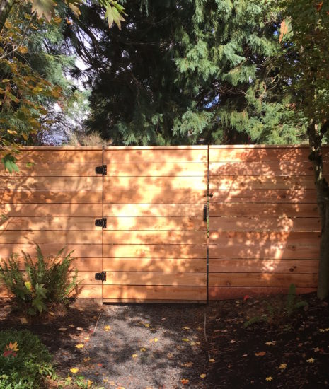 Simple gate with horizontal boards