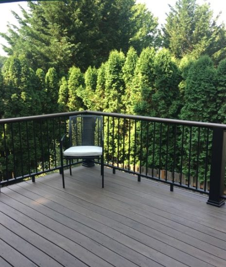 Timbertech Legacy Mocha Deck and Evolutions Builder Rail