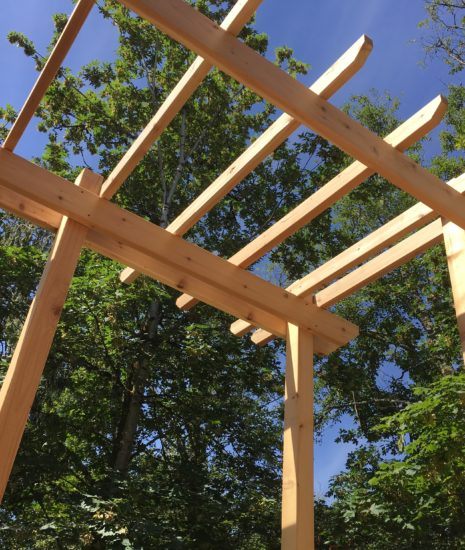 Pergola with picture frame view